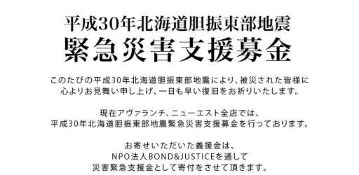 平成30年北海道胆振東部地震 緊急災害支援募金